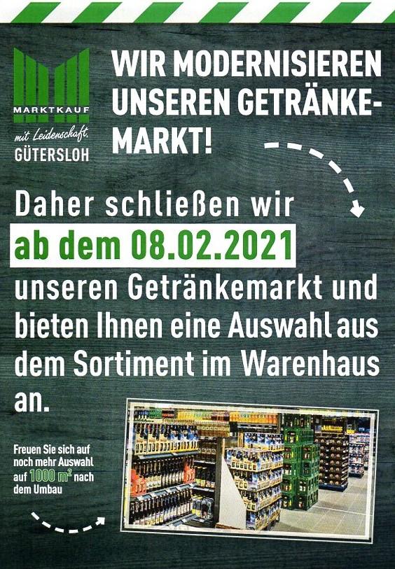Umbau Getränkemarkt!!!